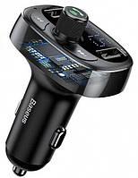 Автомобильное зарядное устройство  Baseus T-Typed MP3 Car Charger Black (CCALL-TM01)