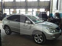 Рейлинги усиленные (с металлическими наконечниками) Lexus rx 300/330/350/400h (Лексус Рх 2003-2009)