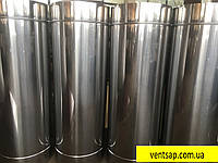 Труба 1м, нержавейка 0,8 мм,диаметр 200 мм. дымоход димохід