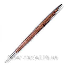 Ручка шариковая Pininfarina Cambiano Ink Chrome, корпус хромированный алюминий  + грецкий орех