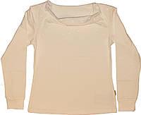 Блуза молочная для девочки, рост 140 см, ТМ Робинзон