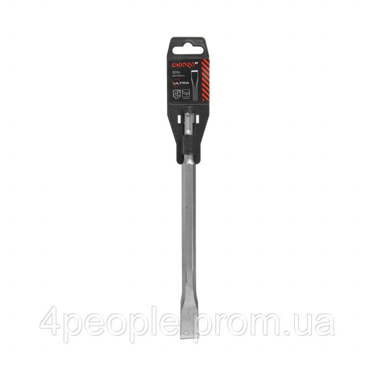 Зубило Dnipro-M 14*250*20 мм Ultra SDS+ малое плоское