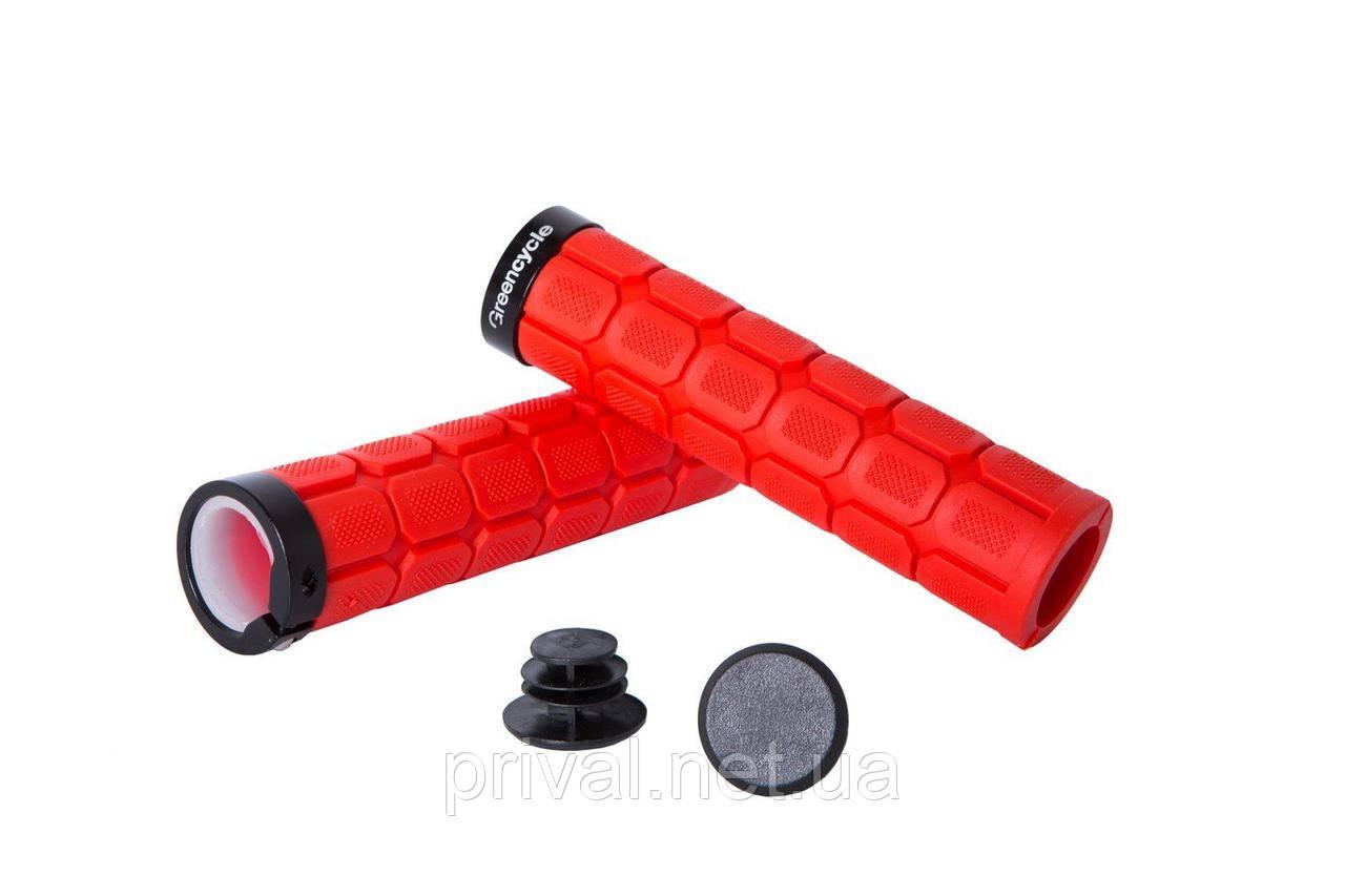 Грипсы Green Cycle GGR-419 130mm вспененная резина, с одним замком красные