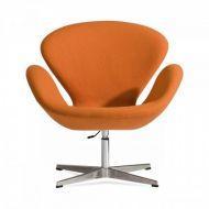 Кресло Сван (Хром) (ткань Оранжевый)