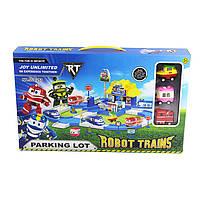 """Гараж паркинг - Роботы Поезда """"Robot Trains"""", Робопотяги парковка"""