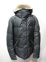 Куртка мужская на био-пухе+шерсть с капюшоном (съёмный) цвет-серый длина 70см 46р 48р 50р 52р 54р