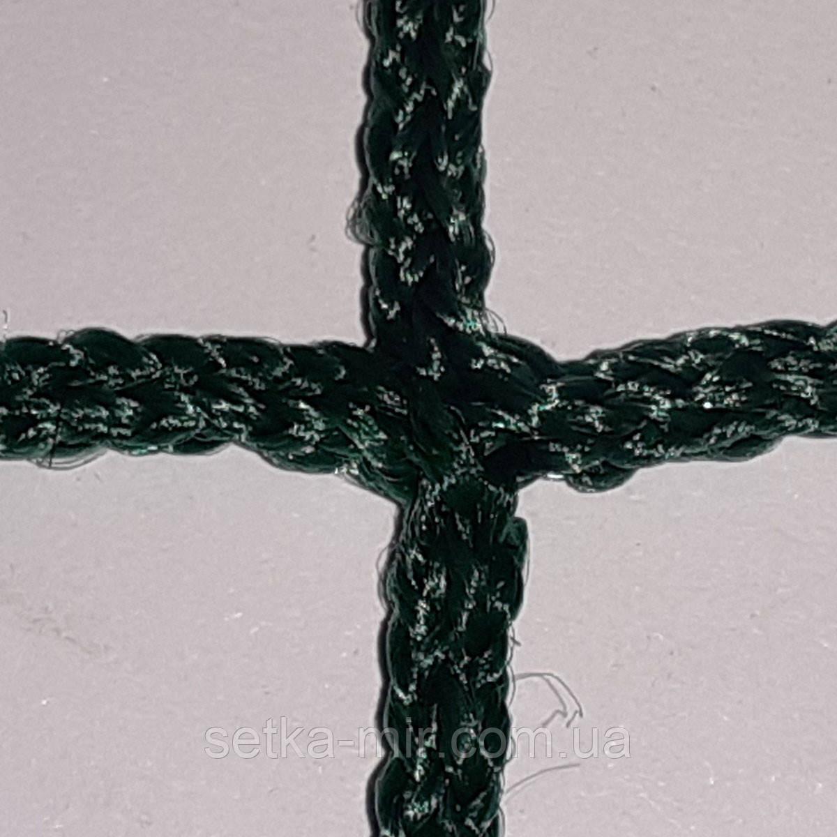 Заградительная сетка безузловая испанская, полипропилен, D – 2,3 мм, ячейка – 4,5 см, тёмно-зеленая