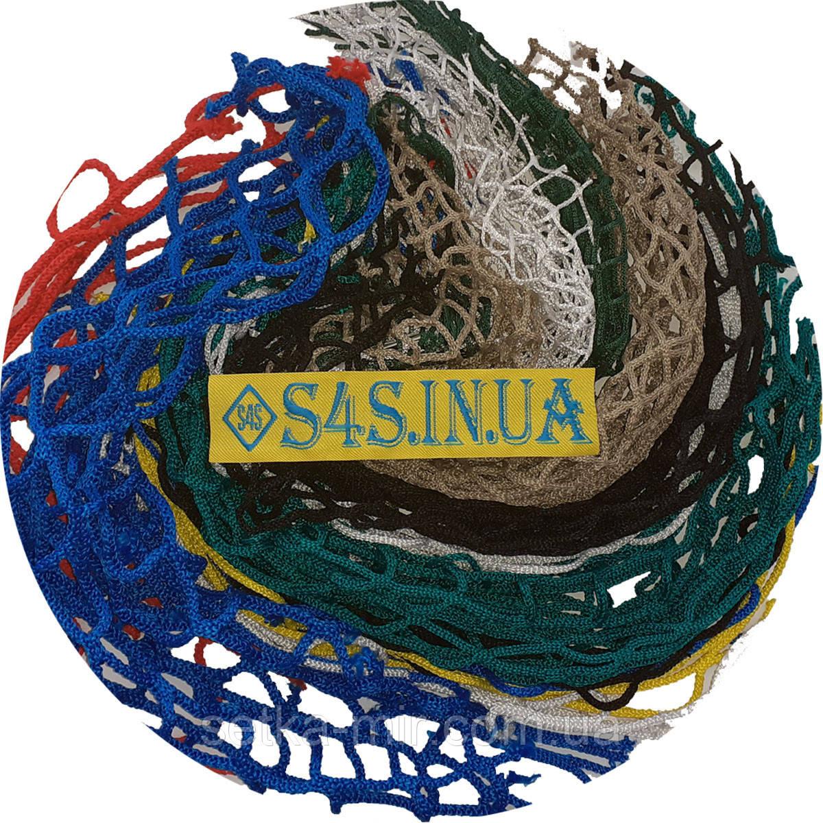 Сетка заградительная безузловая испанская, полипропилен, D – 5 мм, ячейка – 4,5 см, для спортзалов, зелёная