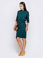 Офисное платье бирюзовое 44 46 48 50