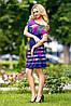 Летнее, свободное платье, микромасло, с принтом