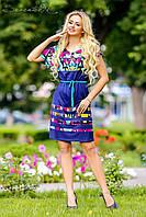 Летнее, свободное платье, микромасло, с принтом, фото 1