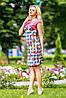 Яркое, стильное платье приталенного силуэта, микромасло, принт