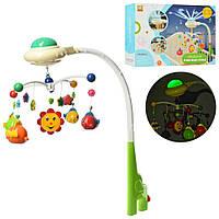 """Детская музыкальная карусель (мобиль) на кроватку 838-15 с проектором """"Звездное небо"""" (2 цвета)"""