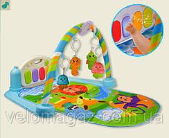 Развивающий коврик для младенца 9922 с пианино, музыка, свет, 800*650*400 мм