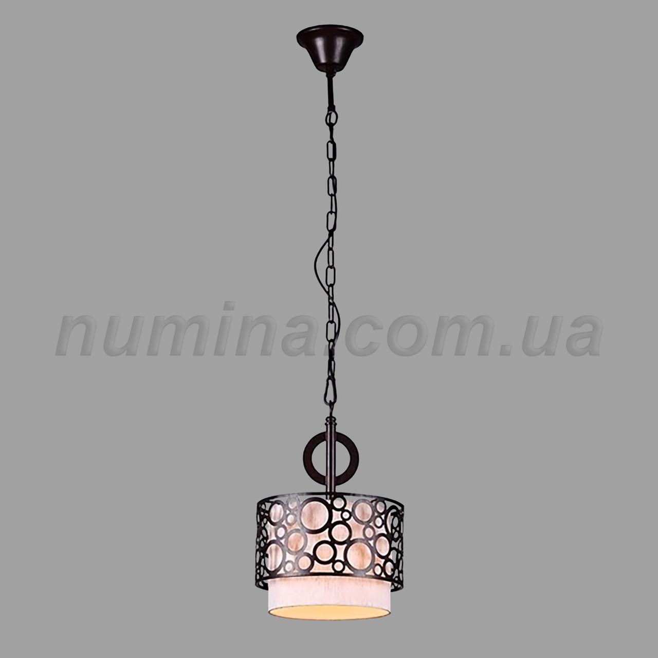 Люстра підвісна на одну лампу 29-3103/1 BK+WT