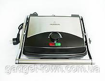 Электрический прижимной гриль,BBQ Grill Crownberg, Контактный гриль с терморегулятором, Барбекю