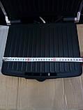 Электрический прижимной гриль,BBQ Grill Crownberg, Контактный гриль с терморегулятором, Барбекю, фото 8