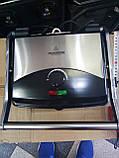 Электрический прижимной гриль,BBQ Grill Crownberg, Контактный гриль с терморегулятором, Барбекю, фото 5