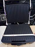 Электрический прижимной гриль,BBQ Grill Crownberg, Контактный гриль с терморегулятором, Барбекю, фото 9