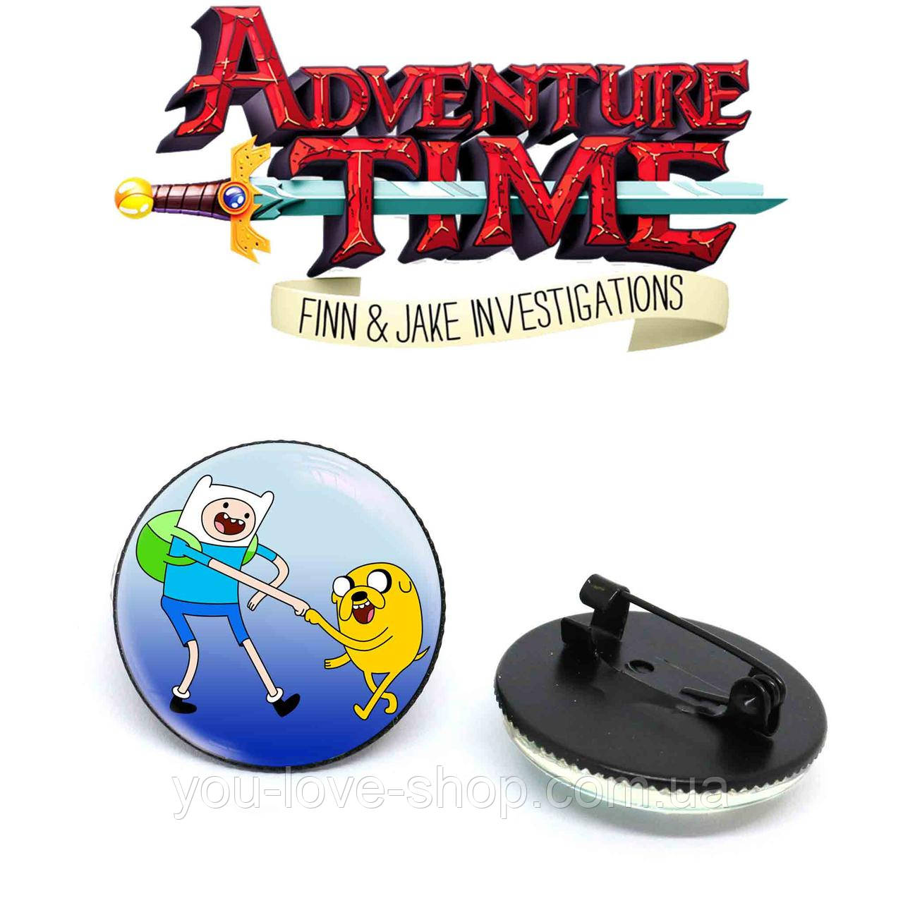 Значок Финн и Джейк Время приключений / Adventure time