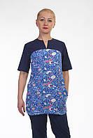 Молодіжний жіночий медичний костюм темно-синій розмір 42-60