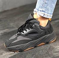 Мужские кроссовки Adidas Yeezy Boost 700 Utility Black. Живое фото (Реплика ААА+), фото 1