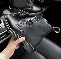 Женские зимние ботинки Dr. Martens 1460 black черные без меха 30-40рр. Реальное фото. Топ реплика, фото 1