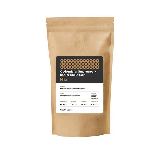 Кофе в зернах CafeBoutique Colombia Supremo + India Malabar 1 кг