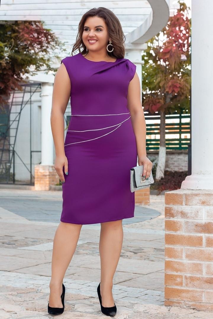 Женское силуэтное платье  50, 52, 54, 56