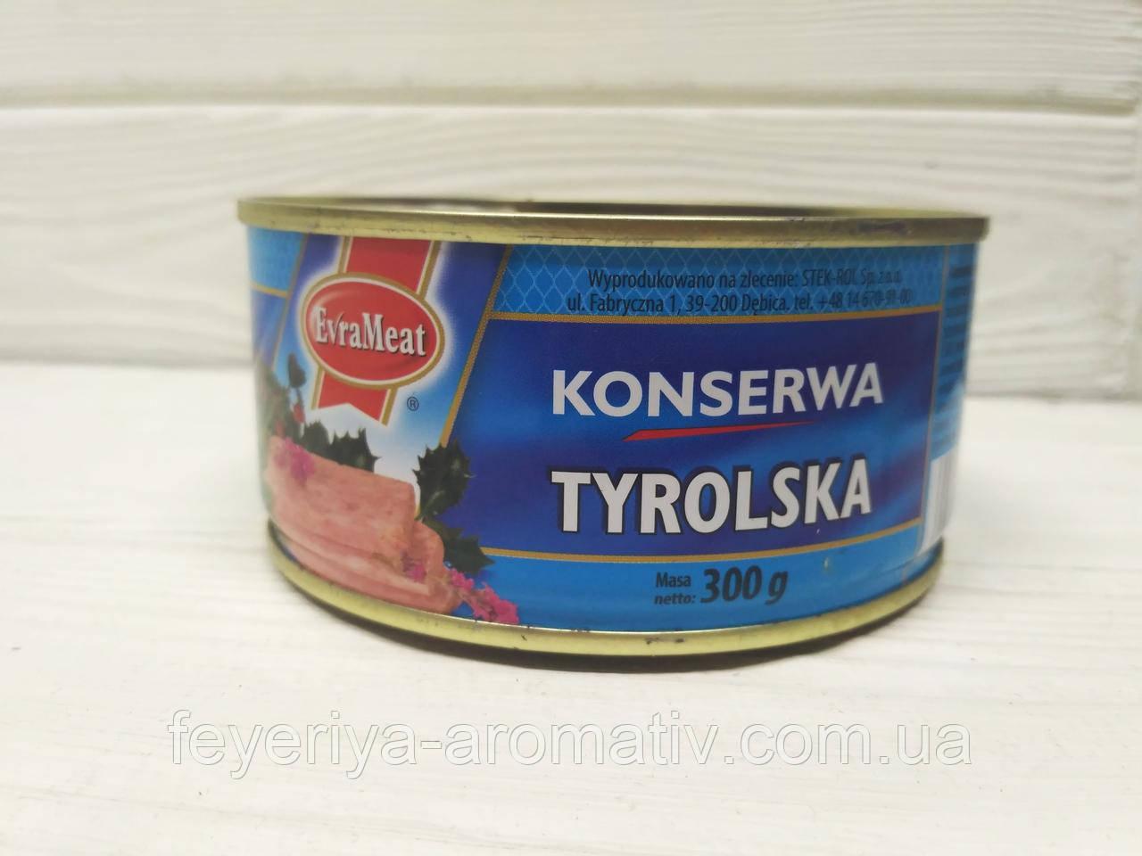 Консерва EvraMeat Konserwa tyrolska (курица и свинина), 300гр (Польша)