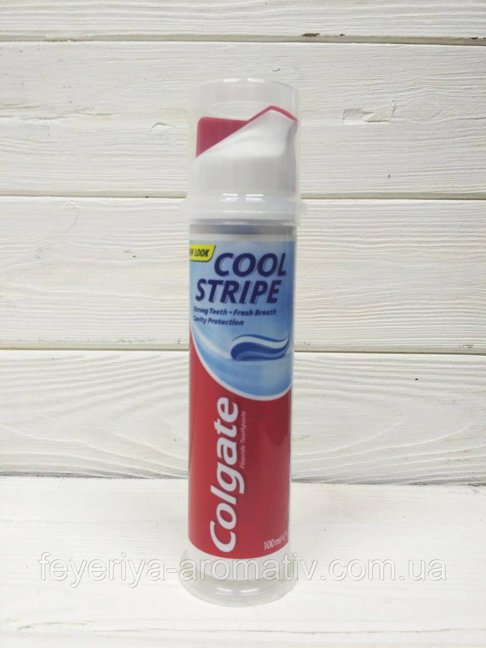 Зубная паста с дозатором Colgate Cool Stripe 100мл (Великобритания)