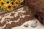 """Кружево  """"Блюмарин классика"""", коричневого цвета с хлопковой нитью 14.5 см., фото 2"""