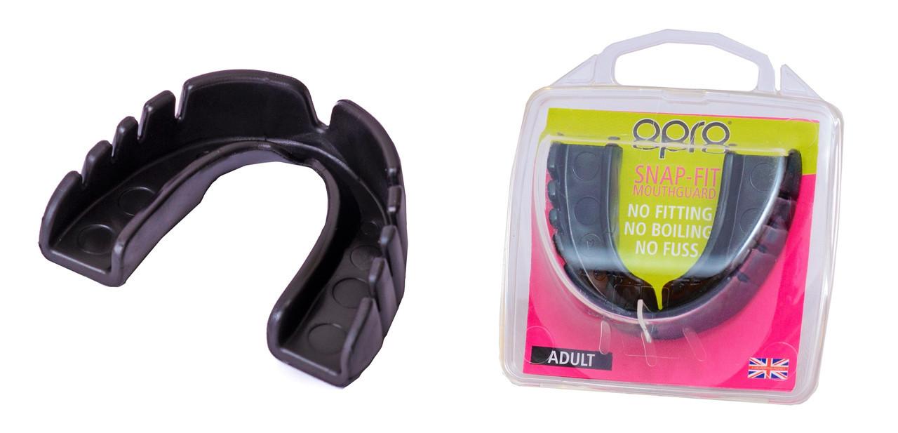 Капа OPRO Junior Snap-Fit Jet Black (art.002143001)