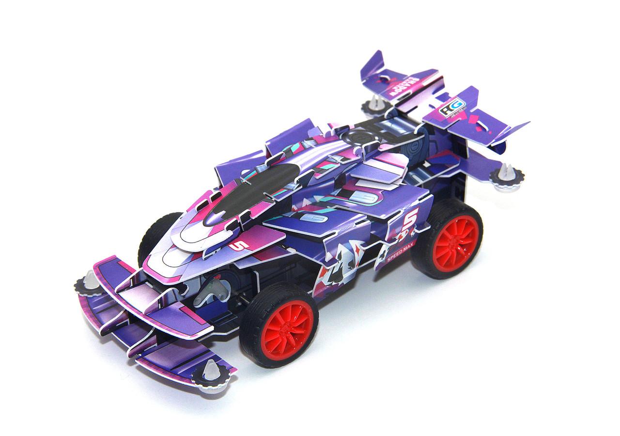 Заводной 3D пазл Гоночная машина Shadow Fighter (Hope Winning HWMP-102)