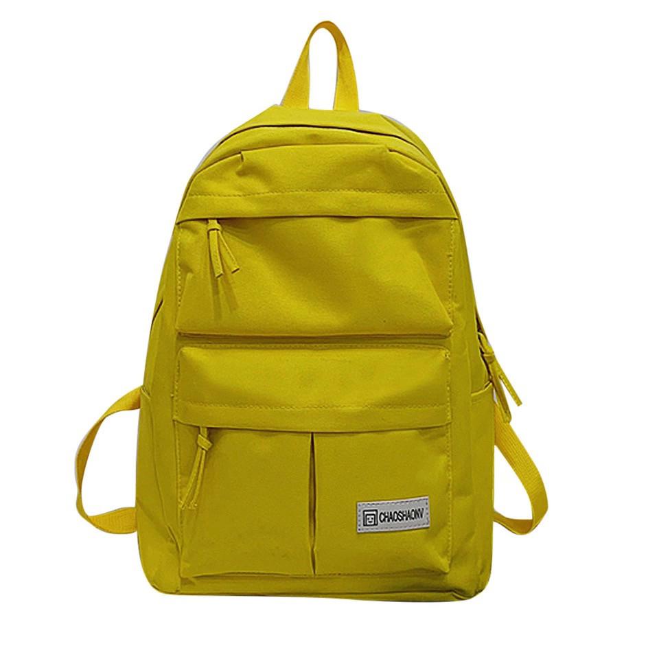 Желтый рюкзак однотонный для девочки подростка.