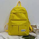 Желтый рюкзак однотонный для девочки подростка., фото 2