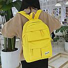 Желтый рюкзак однотонный для девочки подростка., фото 3