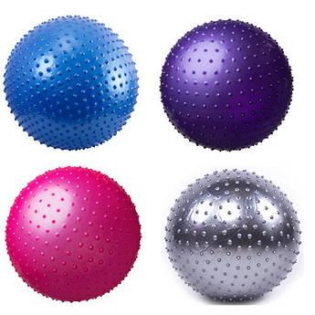 Мяч фитнес 55 cм, массажный, цвета в ассортименте.