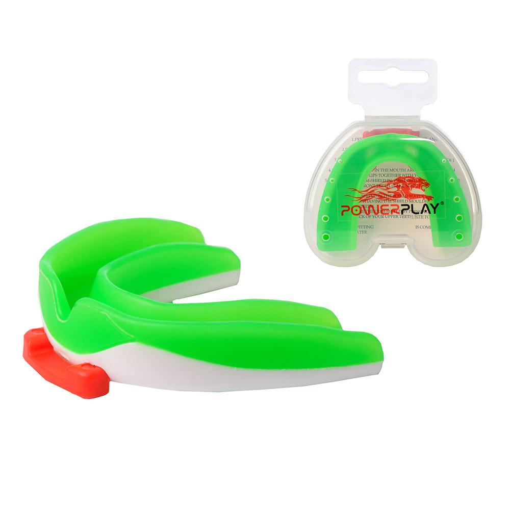 Капа боксерська PowerPlay 3316 SR Зелено-Біла