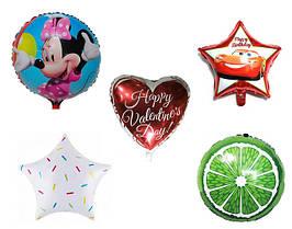 Фольгированные шары: круги.сердца, звезды