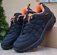 Зимние мужские полуботинки Merrel Ice Cap Moc чёрные с оранжевым на шнурках 41-46 рр. Живое фото. Реплика