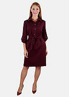 Платье-рубашка на пуговицах 44-46 р ( красный, синий, бордовый )