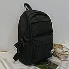 Черный рюкзак с карманами молодёжный., фото 2