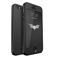 Чехол Luxury 360 для Apple iPhone 5/5S/SE - Black