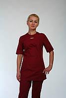 Модный медицинский костюм цвета марсала размер 42-66