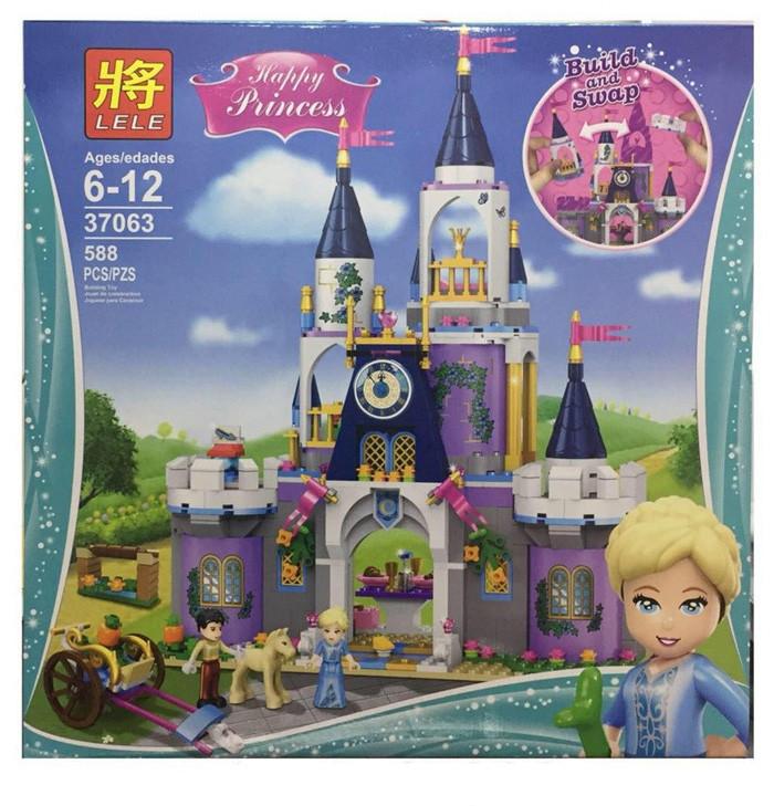 """Конструктор Lele 37063 """"Волшебный замок Золушки"""" 588 деталей. Аналог Lego Disney Princess 41154"""