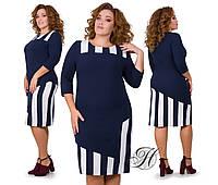 """Платье приталенного кроя """"пианино"""" на каждый день, длина за колено, сезон осень-зима, р.50 код 2204М"""