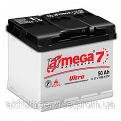 Аккумулятор автомобильный A-Mega Ultra М7 50AH R+ 480A