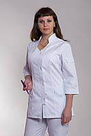 Белый медицинский костюм из коттона размер 42-60