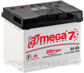 Аккумулятор автомобильный A-Mega Ultra+ (М7+) 64AH R+ 640A